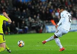 Wayne Routledge of Swansea City scores a goal making it 6-1 - Mandatory by-line: Nizaam Jones/JMP - 06/02/2018 - FOOTBALL - Liberty Stadium - Swansea, Wales - Swansea City v Notts County - Emirates FA Cup fourth round proper