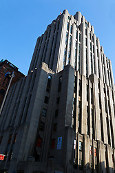Aldred building, Montreal's first skyscraper, built 1931, next to New York Life Building, Place d'Armes, Old Montreal, Montreal, Quebec, Canada