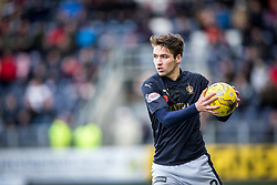 Falkirk's Luke Leahy. <br /> Falkirk 5 v 0 Alloa Athletic, Scottish Championship game played at The Falkirk Stadium.