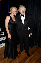 Left to right, GILLIAN ANDERSON and BORIS JOHNSON  winner of the Politician of The Year Award at the GQ Men of The Year Awards 2013 in association with Hugo Boss held at the Royal Opera House, London on 3rd September 2013.