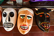 09 JANUARY 2007 - MASAYA, NICARAGUA: Traditional Nicaraguan folkloric masks for sale in Masaya, Nicaragua.   Photo by Jack Kurtz