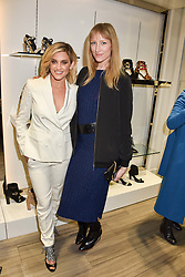 Left to right, Ashley Roberts and Jade Parfitt at a party to launch Ashley Robert's new footwear range Allyn held ay Larizia, 74 St.John's Wood High Street, London England. 8 February 2017.