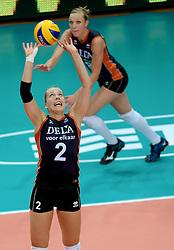 01-10-2014 ITA: World Championship Volleyball Servie - Nederland, Verona<br /> Nederland verliest met 3-0 van Servie en is kansloos voor plaatsing final 6 / Femke Stoltenborg, Judith Pietersen