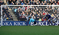 Photo: Steve Bond/Richard Lane Photography. West Bromwich Albion v Newcastle United. Barclays Premiership. 07/02/2009. Keeper Scott Carson watches the ball hit the back of the net as Peter Lovenkrands turns away