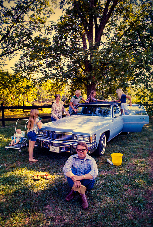 """Billy Carter and family wash the Carter's new blue Cadillac. William Alton - Billy - Carter (March 29, 1937 – September 25, 1988) was an American farmer, businessman, brewer, and politician, and the younger brother of U.S. President Jimmy Carter. Carter promoted Billy Beer and was a candidate for mayor of Plains, Georgia. Carter was born in Plains, Georgia, to James Earl Carter Sr. and Lillian Gordy Carter. He was named after his paternal grandfather and great-grandfather, William Carter Sr. and William Archibald Carter Jr. respectively. He attended Emory University in Atlanta but did not complete a degree. He served four years in the United States Marine Corps, then returned to Plains to work with his brother in the family business of growing peanuts. In 1955, at the age of 18, he married Sybil Spires (b. 1939), also of Plains. They were the parents of six children: Kim, Jana, William """"Buddy"""" Carter IV, Marle, Mandy, and Earl, who was 12 years old when his father died."""