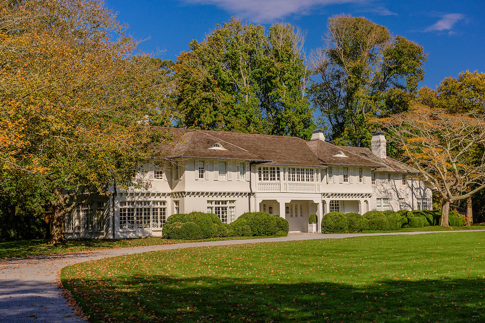 "Lasata, or ""place of peace,"" Designed by architect Arthur Jackson and built in 1917, is universally recognized as one of the most beautiful homes in America. Summer home to the Bouvier family through the 1920s.  Jackie Kennedy Onassis spent many a childhood summer at this huge estate, 121 Further Lane, East Hampton, NY"