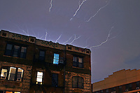 Huge lightning storm hits NYC