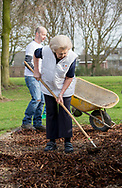 IJsselstein, 11-03-2017 <br /> <br /> Princess Beatrix did voluntary work at <br /> Monastery park playground.<br /> <br /> NL Does is a National Volunteer day organized by the Oranje Fonds.<br /> Neighborhood Garden is created and managed by people from the neighborhood and has several functions: neighborhood garden, picking garden, vegetable garden, children's gardens and nature playground<br /> <br /> <br /> COPYRIGHT: ROYALPORTRAITS EUROPE/ BERNARD RUEBSAMEN