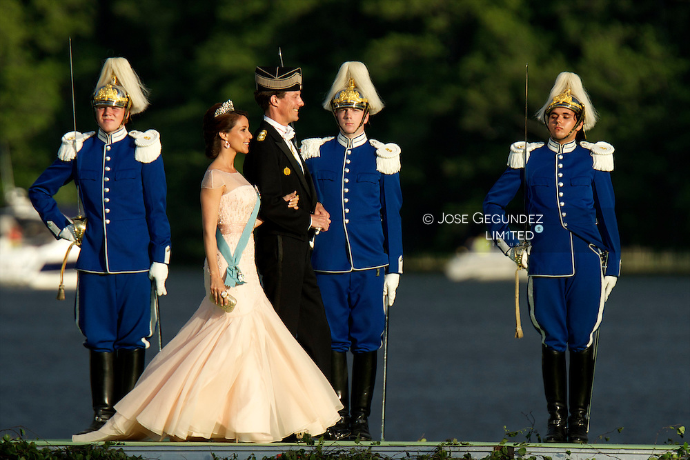 Princess Marie of Denmark and Prince Joachim of Denmark attend the evening banquet after the wedding of Princess Madeleine of Sweden and Christopher O'Neill hosted by King Carl Gustaf and Queen Silvia at Drottningholm Palace on June 8, 2013 in Stockholm, Sweden.