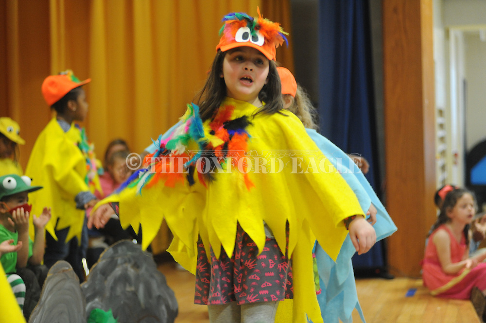 Emma Hardin Morgan was among students in the Bramlett Elementary play Wide Mouthed Frogs in Oxford, Miss. on Friday, March 20, 2015.