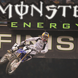 14 March 2009: James M Stewart (7) gains air during the Monster Energy AMA Supercross race at the Louisiana Superdome in New Orleans, Louisiana