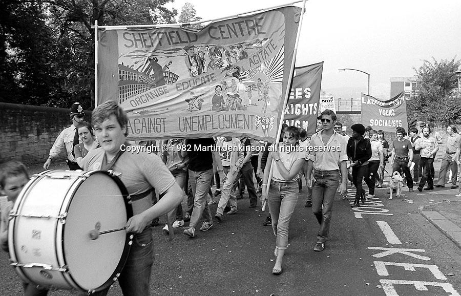 Unemployment Festival. Sheffield. 18/09/1982.