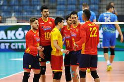 Spanish team during the European Championship game Spain - Slovenia on August 24, 2017 in Krakow, Poland. (Photo by Krzysztof Porebski / Press Focus)