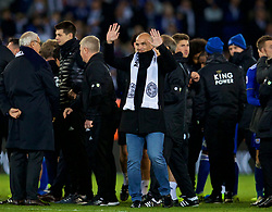 LEICESTER, ENGLAND - Saturday, November 10, 2018: Leicester City's former player Esteban Cambiasso waves to the supporters after the FA Premier League match between Leicester City FC and Burnley FC at the King Power Stadium. (Pic by David Rawcliffe/Propaganda)