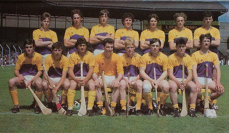 All Ireland Senior Hurling Championship Final,.Galway Vs Offaly,Offaly 2-11, Galway 1-12,.01.09.1985, 09.01.1985, 1st September 1985,.01091985AISHCF,..Wexford Minor Team, P Nolan, L O'Gorman, J Redmond, S Flood, J Codd, Ger Cushe, V Reddy, J Bolger, J O'Connor, E Broders, V Murphy, P O'Callaghan, E Synnot, B Moran, P Carton, Subs, S Wickham for E Broders, J Quirke for B Moran,