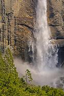 Upper Yosemite Falls in spring, Yosemite Valley, Yosemite National Park, California