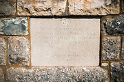 Plaque at the Burnum Roman Amphitheater ruins, Krka National Park, Dalmatia, Croatia
