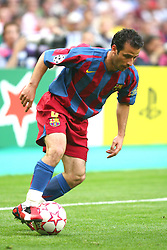PARIS, FRANCE - WEDNESDAY, MAY 17th, 2006: FC Barcelona's Ludovic Giuly in action against Arsenal during the UEFA Champions League Final at the Stade de France. (Pic by David Rawcliffe/Propaganda)