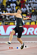 Andreas Hofmann (GER) places third in the javelin at 295-6(90.08m) in the 2018 IAAF Doha Diamond League meeting at Suhaim Bin Hamad Stadium in Doha, Qatar, Friday, May 4, 2018. (Jiro Mochizuki/Image of Sport)