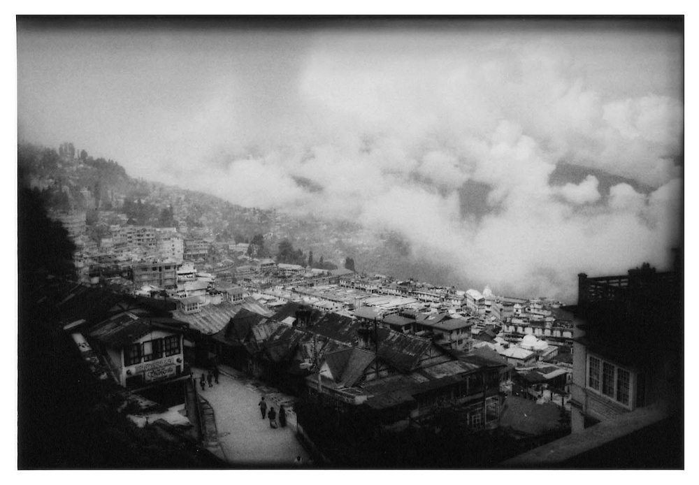 Looking down on building monsoonal clouds, Darjeeling.