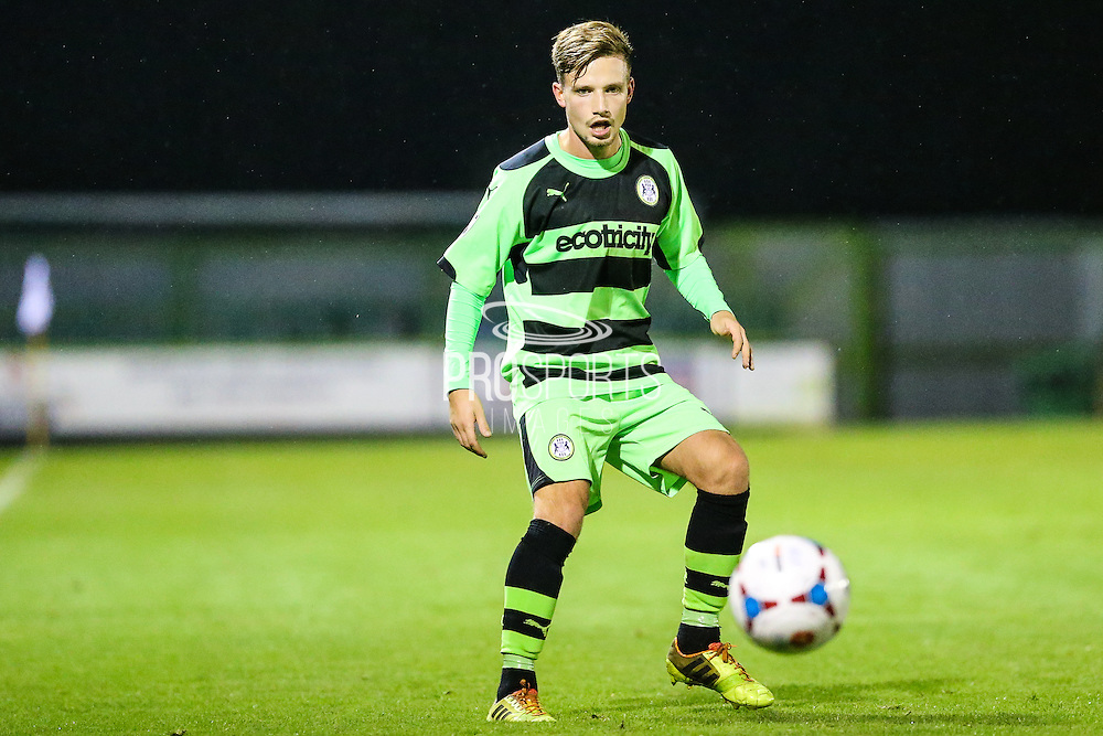 Forest Green Rovers Corby Moore during the The County Cup match between Forest Green Rovers and Bristol City at the New Lawn, Forest Green, United Kingdom on 23 November 2015. Photo by Shane Healey.