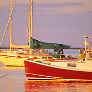 Rockland Harbor at sunrise. Rockland, Maine