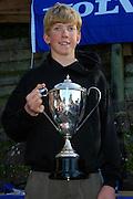 Peter Burling, Prize giving, Volvo Winter Championships, 26th September 2004