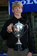Peter Burling, Prize giving, Volvo Winter Championships, 26th September 2004
