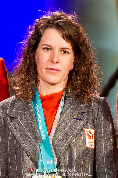 NLD/Den Haag/20180323 - Huldiging Olympische en Paralympische medaillewinnaars, Ireen Wust