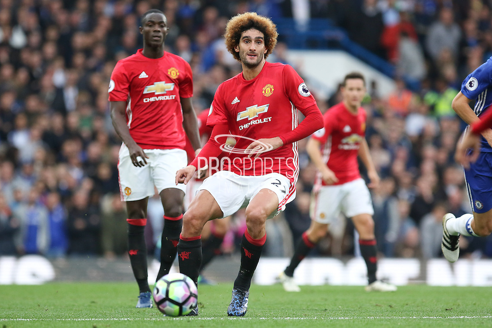 Marouane Fellaini Midfielder of Manchester United during the Premier League match between Chelsea and Manchester United at Stamford Bridge, London, England on 23 October 2016. Photo by Phil Duncan.