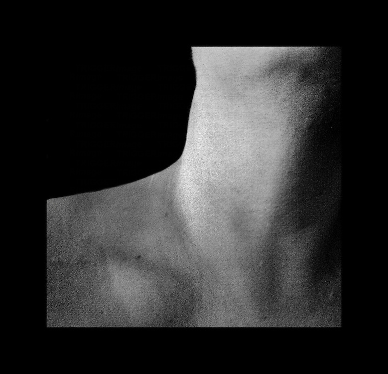 A close up of a young woman,s neck