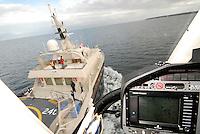 Patag&ocirc;nia Chilena, regi&atilde;o de Puerto Montt, Chile. Cruzeiro tur&iacute;stico em mega-iate Nomads os the Seas, para a temporada de fly-fishing. Foto: Daniel De&aacute;k <br /> Chilean Patagonia, Puerto Montt region, Chile. Touristic cruse in a mega-yate Nomads of the Seas, for the fly-fishing season. Photo: Daniel De&aacute;k