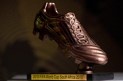 Adidas Bronze Boot during FIFA World Cup 2010 on July 1, 2010 at the adidas Jo'bulani Centre in Sandton Convention Centre in Johannesburg. (Photo by Vid Ponikvar / Sportida)