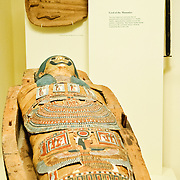 Egyption mummy from ancient Egypt exhibit at the Smithsonian Institution's National Natural History Museum in Washington DC.