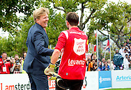 Amsterdam, 12-09-2015<br /> <br /> King Willem-Alexander opened the Homeless World Cup at the Museum Square of Amsterdam.<br /> <br /> Photo: Royalportraits Europe/Bernard Ruebsamen