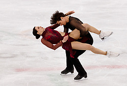 February 12, 2018 - Gangneung, South Korea - Tessa Virtue and Scott Moir of Canada compete during the Team Event Ice Dance Free Dance at the PyeongChang 2018 Winter Olympic Games at Gangneung Ice Arena on Monday February 12, 2018. (Credit Image: © Paul Kitagaki Jr. via ZUMA Wire)