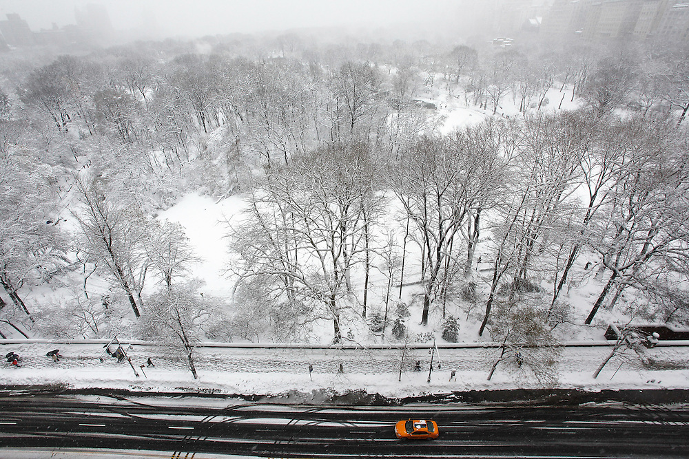 An aerial view of central park at 59th Street as seen from the Park Lane Hotel in New York City. photo by Joe Kohen
