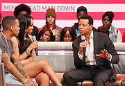"Bow Wow, Paigion and Terrence Howard appear on BET's ""106th & Park"" at the CBS Television Center in New York City, New York on March 07, 2013."
