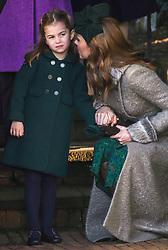 Members of The Royal Family attend Christmas Service at St Mary Magdalene Church, Sandringham, Norfolk, UK, on the 25th December 2019. 25 Dec 2019 Pictured: Princess Charlotte, Catherine, Duchess of Cambridge, Kate Middleton. Photo credit: MEGA TheMegaAgency.com +1 888 505 6342