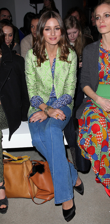 Olivia Palermo at the Jonathan Saunders show  at London Fashion Week A/W 2012. Sunday ,19th February 2012. Photo by: Stephen Lock / i-Images