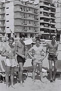 Boys on the beach, Benidorm, Spain, 1985