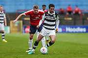 Forest Green Rovers Fabien Robert(26) on the ball during the Vanarama National League match between York City and Forest Green Rovers at Bootham Crescent, York, England on 29 April 2017. Photo by Shane Healey.