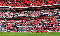 Arsenal players warm up - Mandatory by-line: Arron Gent/JMP - 02/03/2019 - FOOTBALL - Wembley Stadium - London, England - Tottenham Hotspur v Arsenal - Premier League