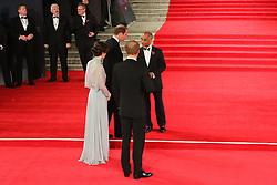 William Duke of Cambridge, Prince Harry, Kate Duchess of Cambridge, Bond: Spectre - World Premiere & Royal Film Performance, Royal Albert Hall, London UK, 26 October 2015, Photo by Richard Goldschmidt
