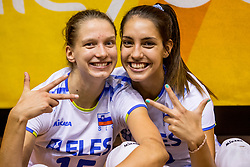 23-08-2017 NED: World Qualifications Greece - Slovenia, Rotterdam<br /> Sloveni&euml; wint met 3-0 / Ela Pintar #15 of Slovenia, Sara Dukic #10 of Slovenia