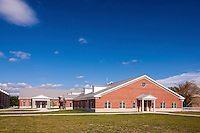 Exterior image of The Basic School Dining Hall at Quantico Marine Base by Jeffrey Sauers of Commercial Photographics