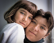 Mother and daughter in hospital, Botosani, Romania