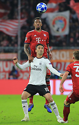 27.11.2018, Champions League  Saison 2018/ 2019, . Bayern vs Benfica, Allianz Arena, Muenchen, Sport, im Bild:..Jerome Boateng (FCB) vs Jonas ( Benfica)..DFL REGULATIONS PROHIBIT ANY USE OF PHOTOGRAPHS AS IMAGE SEQUENCES AND / OR QUASI VIDEO...Copyright: Philippe Ruiz..Tel: 089 745 82 22.Handy: 0177 29 39 408.e-Mail: philippe_ruiz@gmx.de. (Credit Image: © Philippe Ruiz/Xinhua via ZUMA Wire)