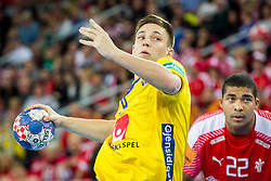 Jerry Tollbring (SWE) during handball match between National teams of Denmark and Sweden in Half Final match of Men's EHF EURO 2018, on January 26, 2018 in Arena Zagreb, Zagreb, Croatia. Photo by Ziga Zupan / Sportida