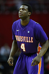 07 January 2012:  Lewis Jones during an NCAA Missouri Valley Conference mens basketball game Where the Purple Aces of Evansville lost to the Illinois State Redbirds 75-73 in Redbird Arena, Normal IL